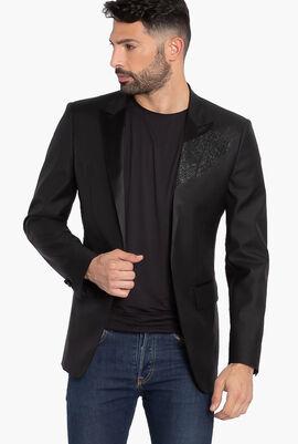 Glitter 2-Button Suit Jacket