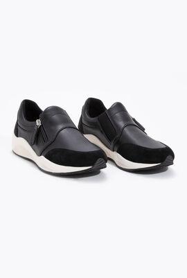 حذاء رياضي من الجلد سهل الارتداء بدون رباط Omaya B