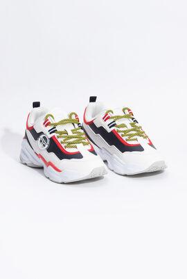 Glassy LTX White/Navy Sneakers
