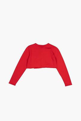 Plain Cropped Cardigan