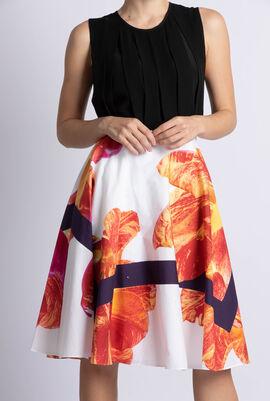 Floral Print Round Skirt