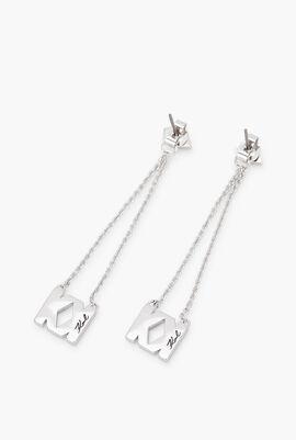 Karl x Kaia Logo K Drop Earrings