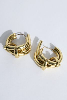 Rosa Piping Hoops Earrings