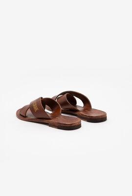Uncross Leather Slides