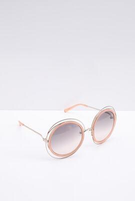 Oversized Round Peach Women's Sunglasses
