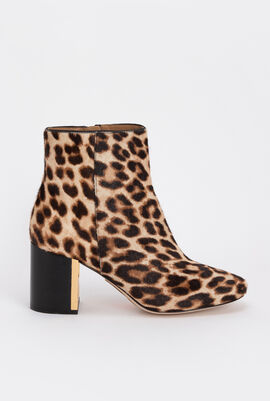 Gigi Leopard Print Ankle Boots