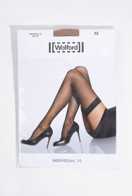 Individual 10 Caramel Stay-Up Stockings