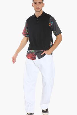 Floral Print Sleeves Sweater