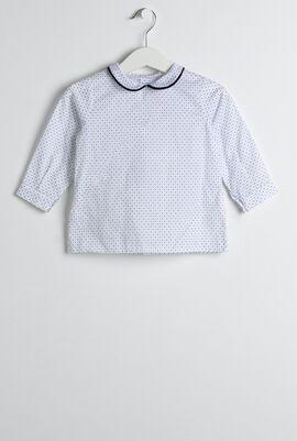 Navy Shirt & Romper Set