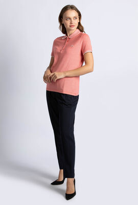 Slim Fit Pinstriped Polo Shirt