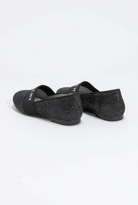 Glittery Slip-On Flats