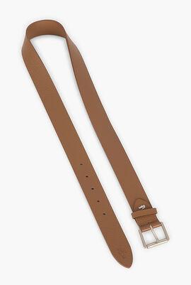 Engraved Buckle Leather Belt