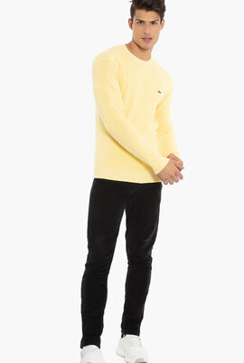 Knit Effect Cotton Sweater