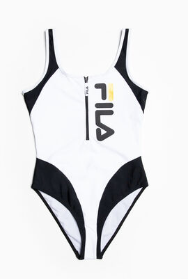 Logo Zip Swimsuit