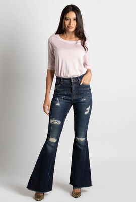 Queen Ripped Bootcut Jeans