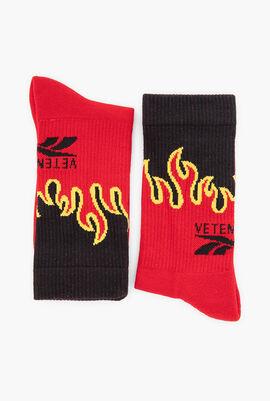 Fire Print Socks