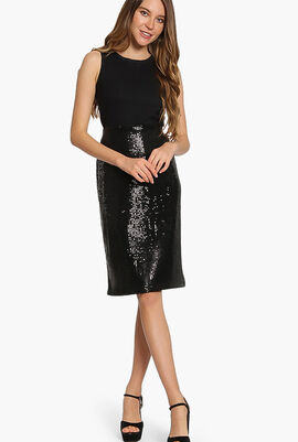 Sequined Straight Skirt