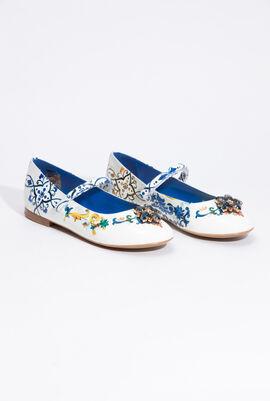 Printed Ballerina Shoes