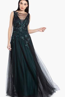 Tulle Applique Gown