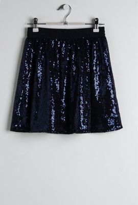 Navy Sparkle Skirt