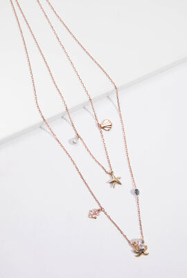 Ocean Double Chain Necklace