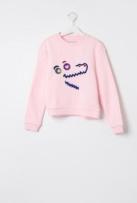 Fun Crocodile Fleece Sweatshirt