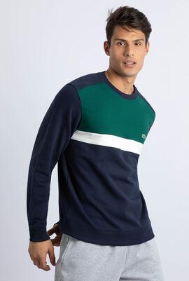 Colourblock Cotton Fleece Sweatshirt