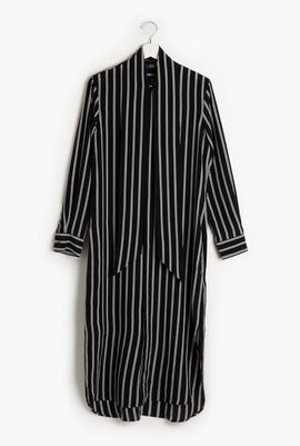 Striped Long Sleeves Dress