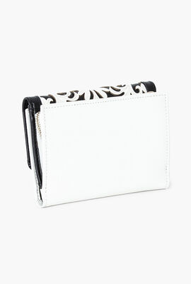 Spring Signature Leather Small Flap Wallet