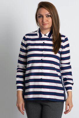 قميص فوال مخطط بتصميم مريح
