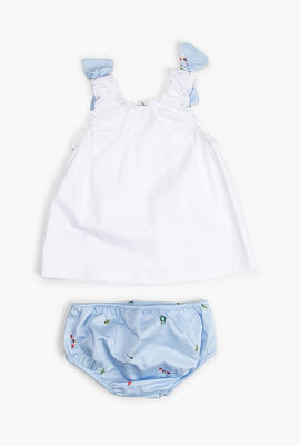 Baby Sleeveless Dress Set