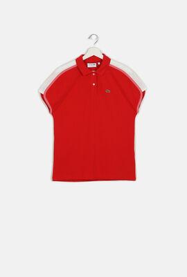 Colourblock Crepe Piqué Polo Shirt