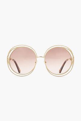 Carlina Chain Oversized Sunglasses