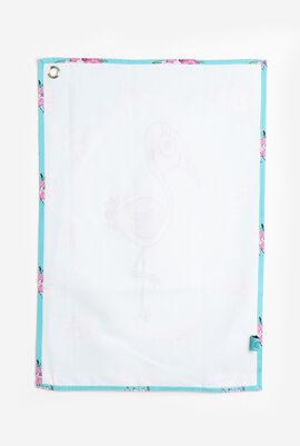 Flamingo Canvas Tea Towel