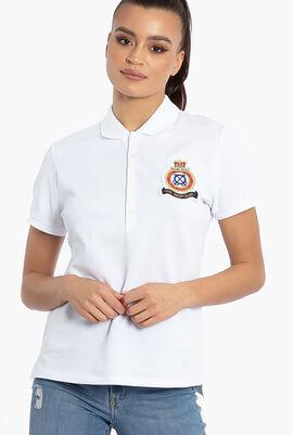 Julie W Slim Short Sleeve Polo Shirt