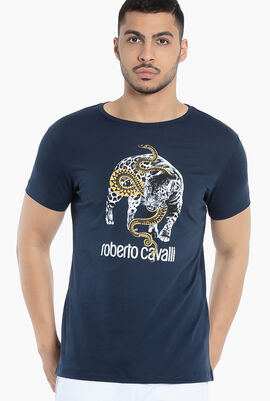 Leopard and Snake Print T-Shirt