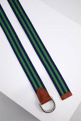 Green Stripes Pattern Belt