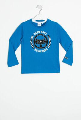 قميص تي-شيرت بأكمام طويلة وتصميم مطبوع