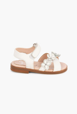 Flower Leather Sandals