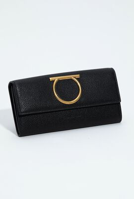 Gancini Continental Leather Wallet