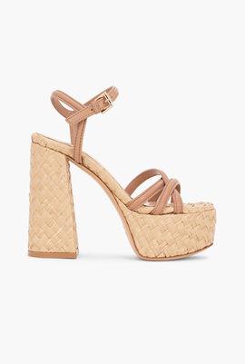 Bee Raffia Sandals