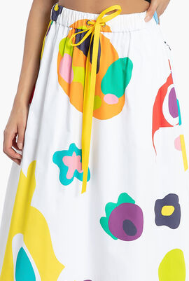 Monster Print A-Line Skirt
