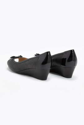 Floralie A Leather Wedge Pumps