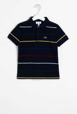 Coloured Pinstripes Polo Shirt