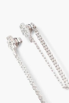 Light Bolt Chain Earrings
