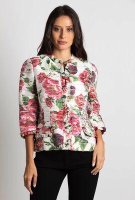 Rose Print Jacket