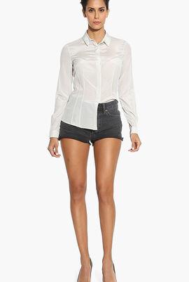 Plain Silk Shirt