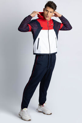 Colourblock Tennis Hooded Sweatsuit