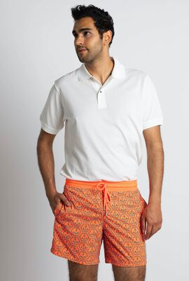 Mahina Anchor Orange Swim Trunks
