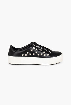 Cat Pearl Leather Sneakers